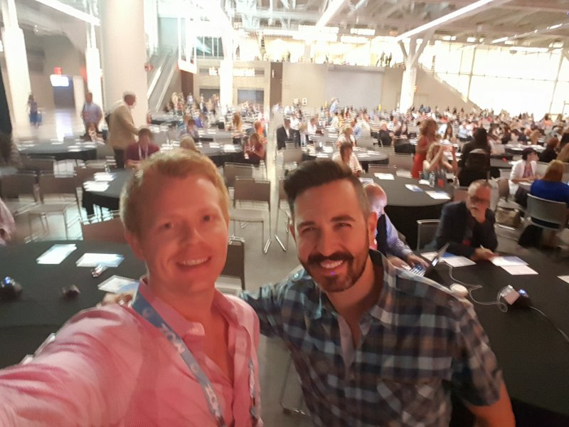 Derric and Rand Fishkin at Content Marketing World 2016